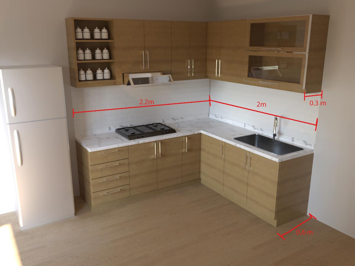harga kitchen set minimalis permeter